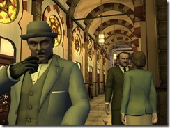 Screen shot from a Murder on the Orient Express game