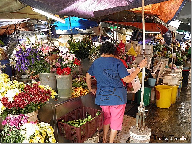 Cut Flower Stall at Pudu Market