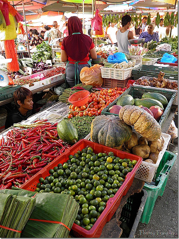 Vegetable stall, Pudu Market