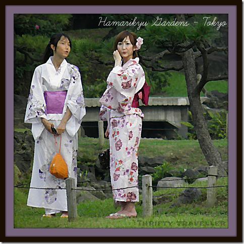 Kimonos in Hamarikyu Gardens