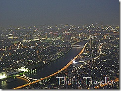 View of Tokyo from Sky Tree Floor 350.