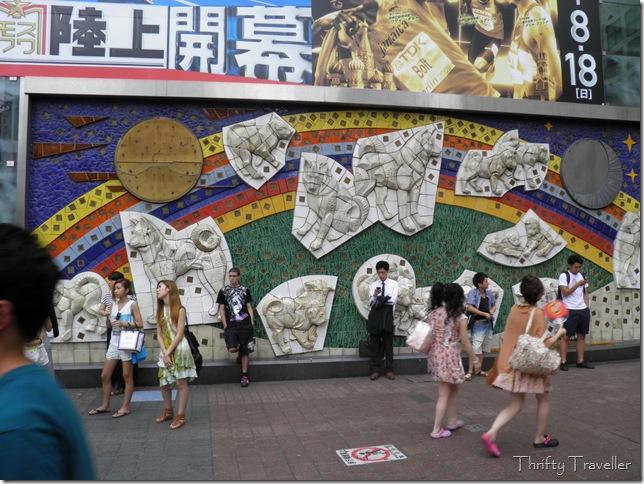 Hachiko mural at Shibuya station.