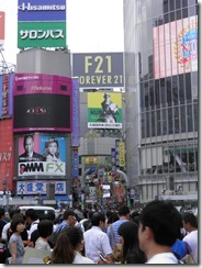 Busy Shibuya intersection
