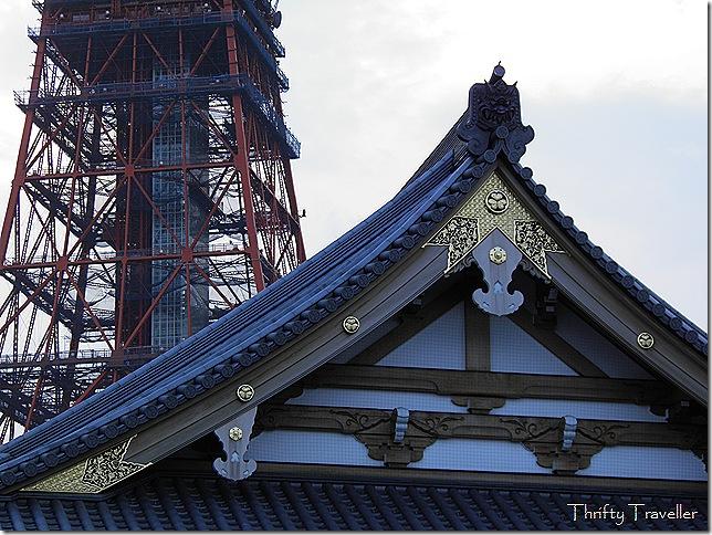 Tokyo Tower behind Zoji-ji