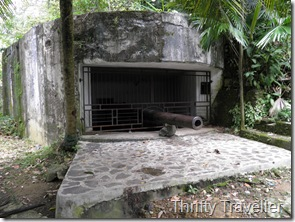 Japanese gun emplacement at Padang