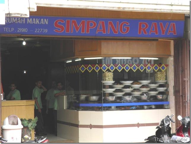 Simpang Raya restaurant in Bukittinggi
