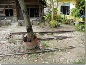 Disused railway track at Padang