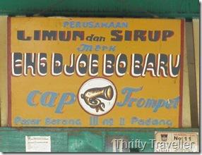 Vintage signage at Padang