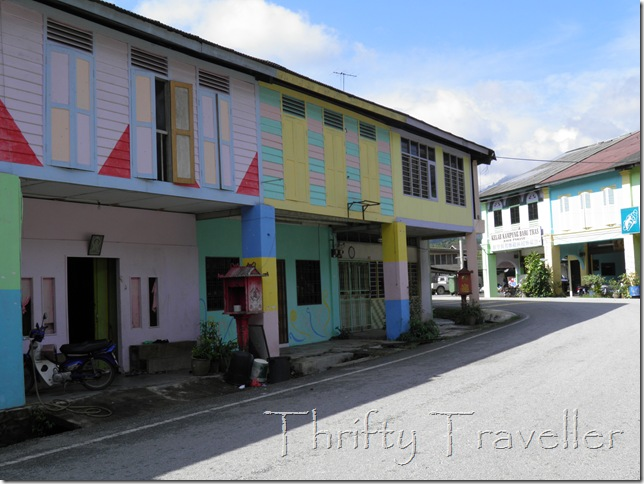 Colourful shophouses at Tras, Pahang