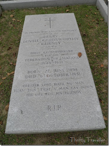 Tombstone of Sir Henry Gurney at Cheras Road Christian Cemetery, Kuala Lumpur