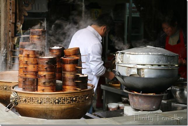 Dimsum in Kuanxiangzi Alley, Chengdu