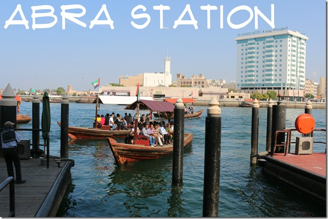 Abras reversing out from the Bur Dubai abra station.