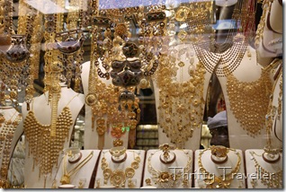 Gold necklaces at Dubai Gold Souq