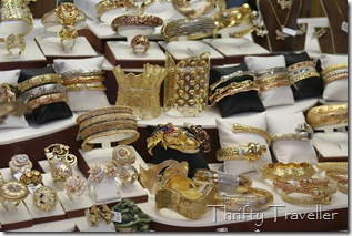 Gold rings and bracelets at Dubai Gold Souq
