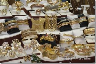 Gold rings and bracelets at Dubai Gold Souq