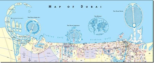 Map of Dubai's reclamation projects