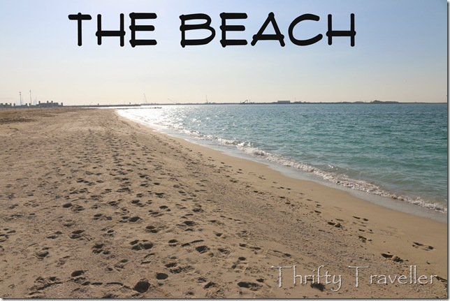 Beach near Mercato in Dubai
