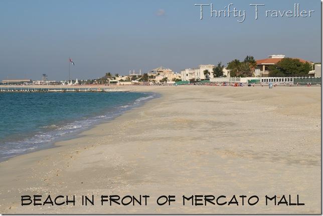 Beach in front of Mercato Mall, Dubai