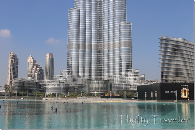 Man-made 30 acre lake at Burj Khalifa, Dubai