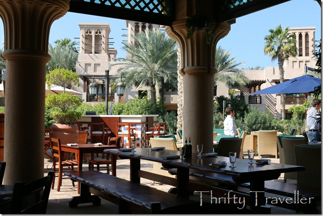 Terrace at Toscana Italian restaurant, Madinat Jumeirah.