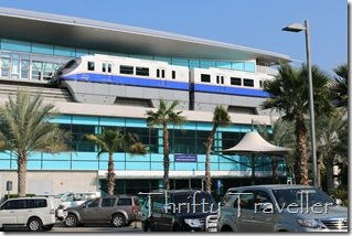 Palm Island monorail. Trains depart every 23 minutes.