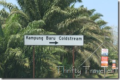 Road sign for Kampung Baru Coldstream
