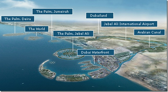 Dubai's ambitious reclamation projects