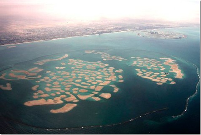 The World, Dubai (looks less than 300 islands)