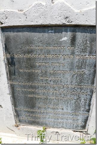 British Graveyard, Alor Gajah, grave of George Holford Walker