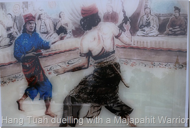 Hang Tuah duelling with a Majapahit Warrior.