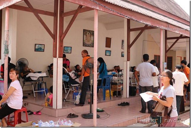 Donating Blood at Wat Sitawanaram at Kampung Koh, Sitiawan