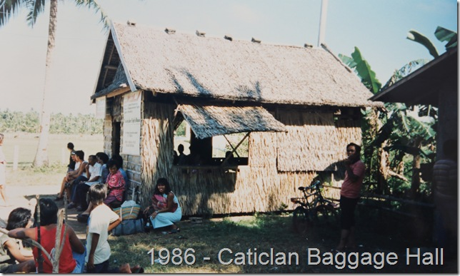 Caticlan Airport Baggage Hall in 1986