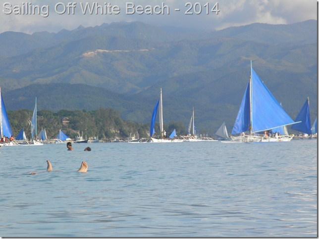 Sailing Off White Beach - 2014