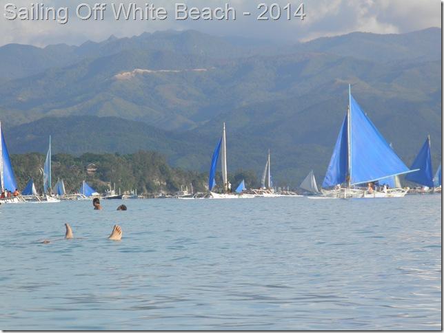 Sailing Off White Beach - 2014