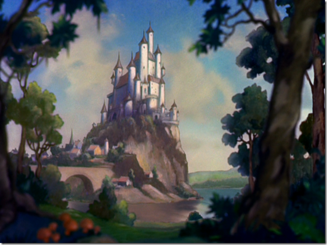 Walt Disney's castle in Snow White and the Seven Dwarfs
