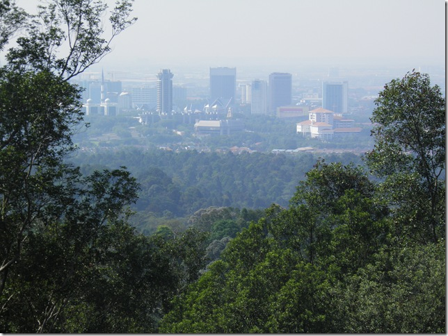 View of Shah Alam from the top of Bukit Sapu Tangan.