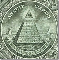 One Dollar Bill all seeing eye of God