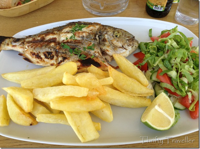 Sea bream and chips, Salamis, Famagusta