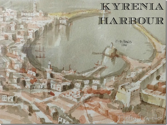 Photo of a painting displayed inside Kyrenia Castle