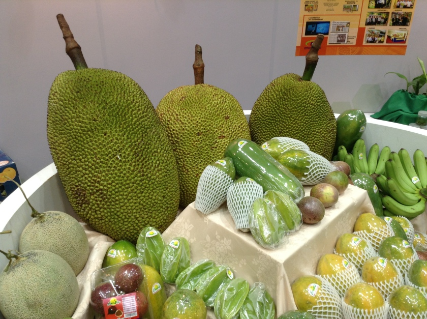 Giant Jackfruit and other fruits.