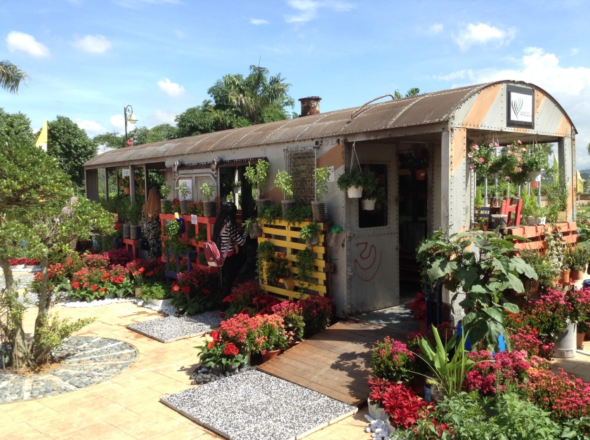 Railway Carriage used as a greenhouse at MAHA 2014