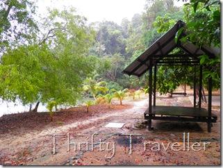 Shelters on Pulau Masjid Beach, Tanjung Tuan