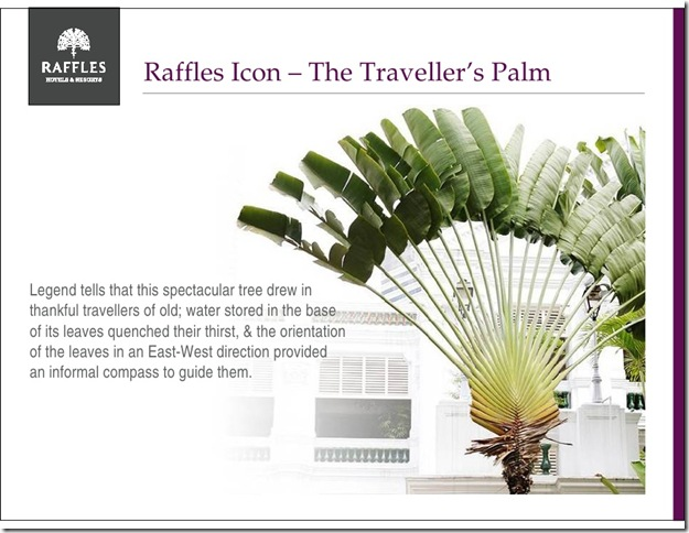 Raffles Hotel Singapore advertising material