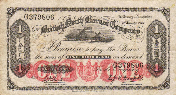 British North Borneo Bank Note