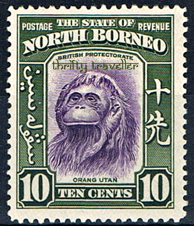 British North Borneo Orang Utan Stamp