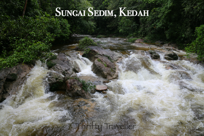 Raging cascade at Sungai Sedim.