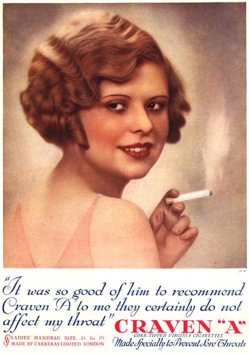 Craven A Cigarette advert