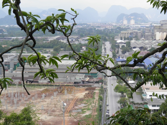 Ipoh's limestone hills seen from afar.
