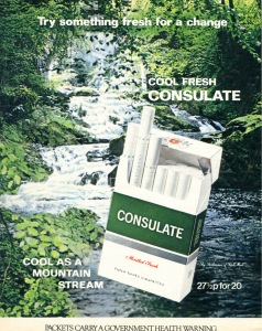 Consulate Cigarettes - Cool as a mountain stream