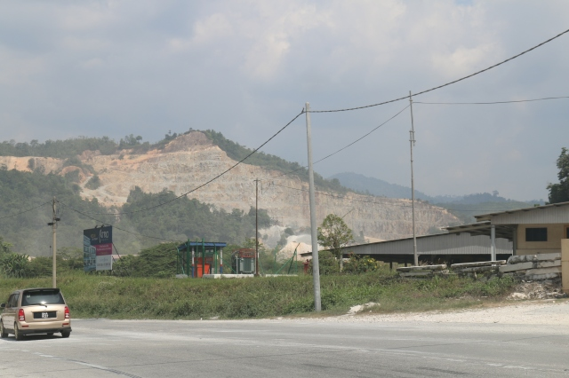 Quarrying activity near Ipoh
